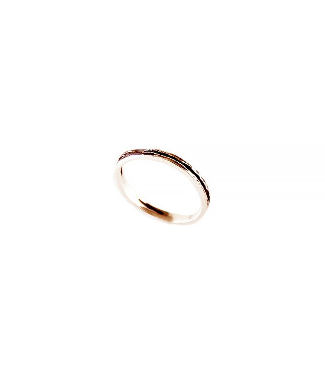 Androgyny 14k Rose Gold Fractured Earth Pinky Ring
