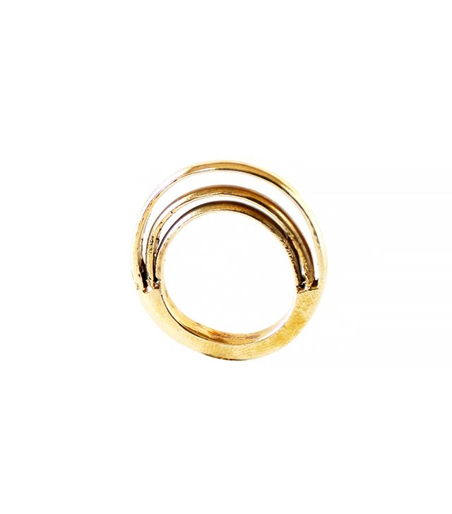 Androgyny Bronze Orbit Ring
