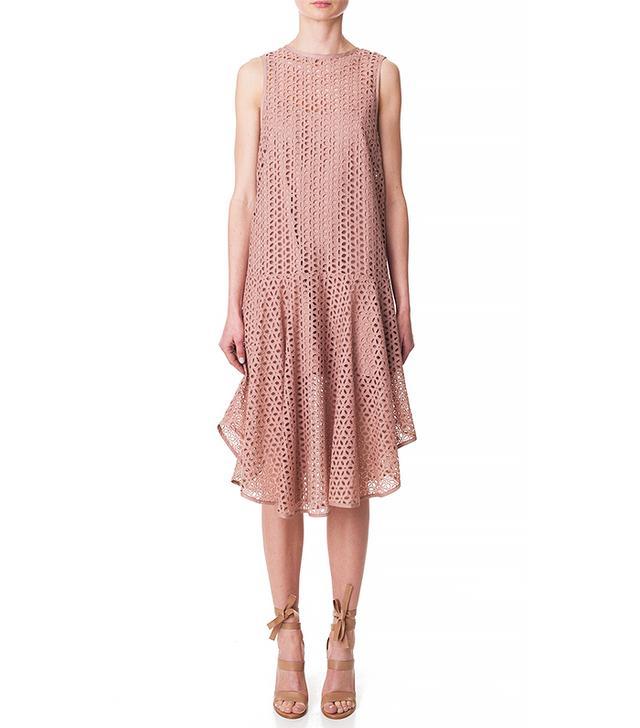 Tibi Hanae Eyelet Midi Dress