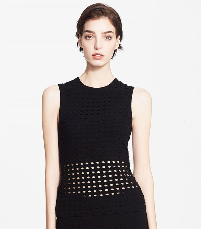 T by Alexander Wang Perforated Crewneck Tank