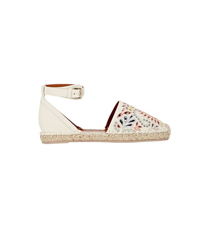 Valentino Cutout Ankle-Strap Espadrilles