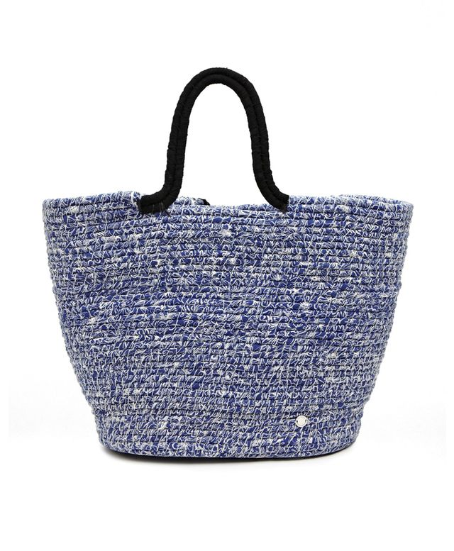 French Connection Woven Beach Bag