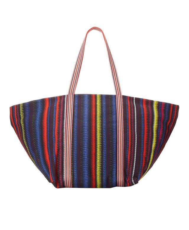 M Missoni Lazer Strip Beach Bag
