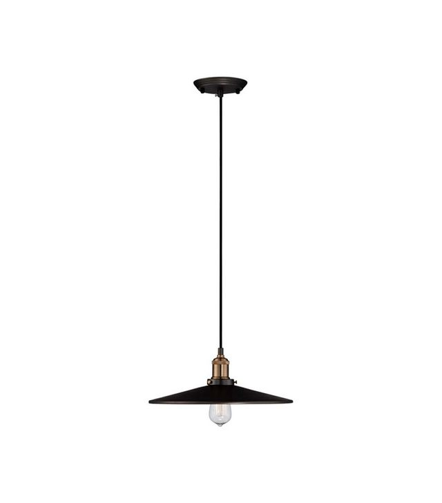 Lamps Plus Emile Urban Industrial Wide Gun Black Pendant Light