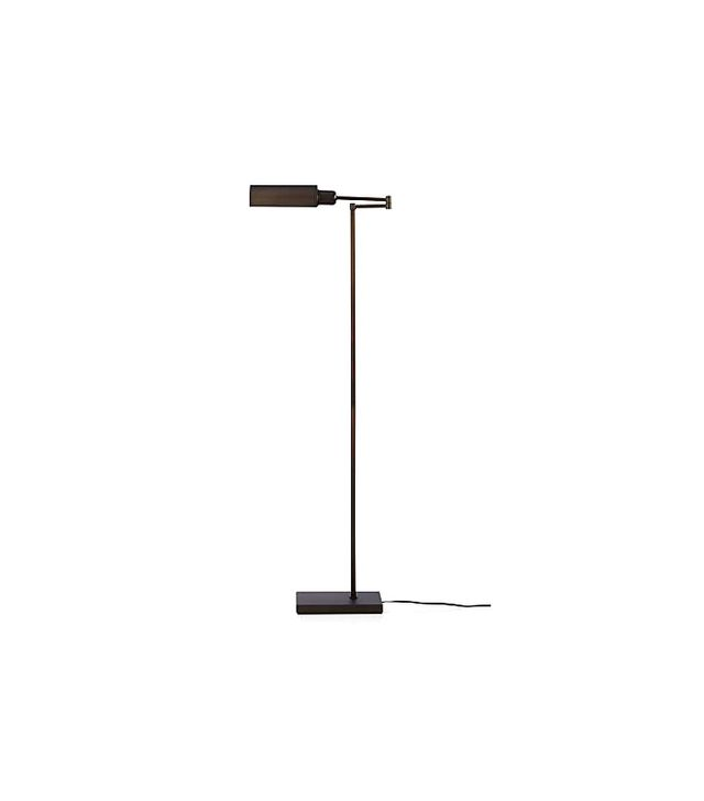 Crate and Barrel Wagner Bronze Pharmacy Floor Lamp