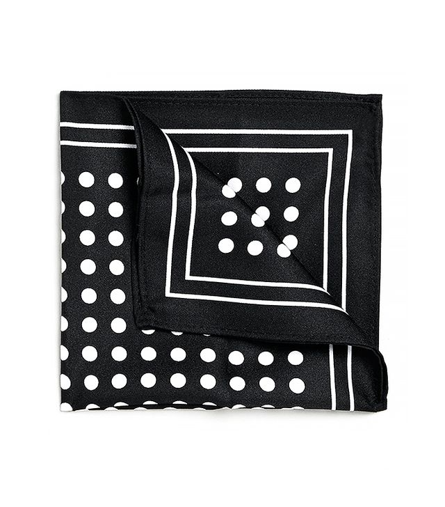 Topman Monochrome Polkadot Pocket Square