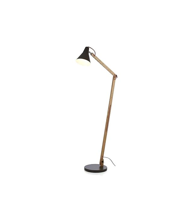 Crate & Barrel Rex Grey Floor Lamp