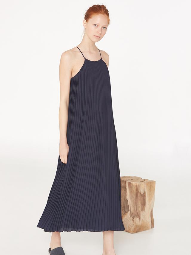 Mango Premium Long Pleated Dress
