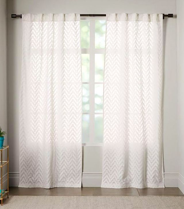 West Elm Sheer Chevron Curtain