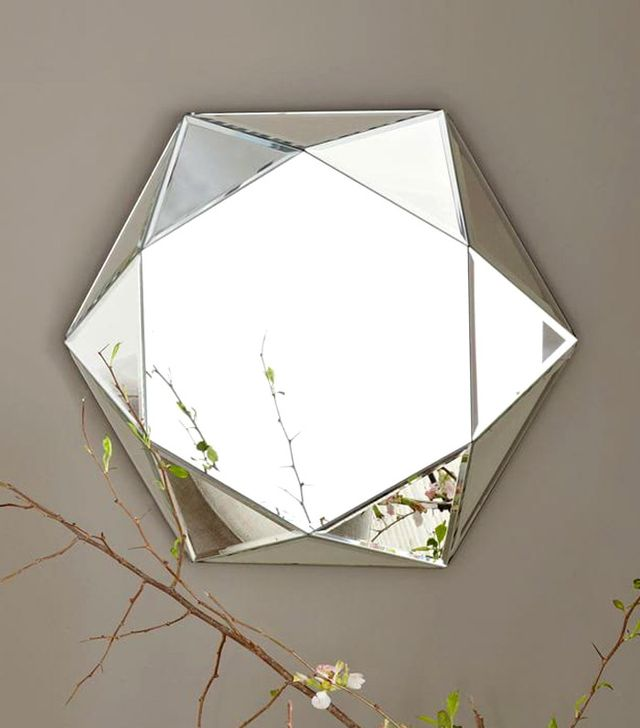 West Elm Faceted Mirror