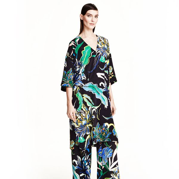 H&M Patterned Silk Dress
