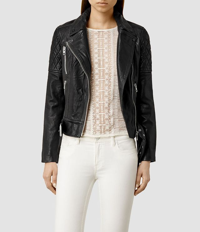 AllSaints Leather Biker Jacket