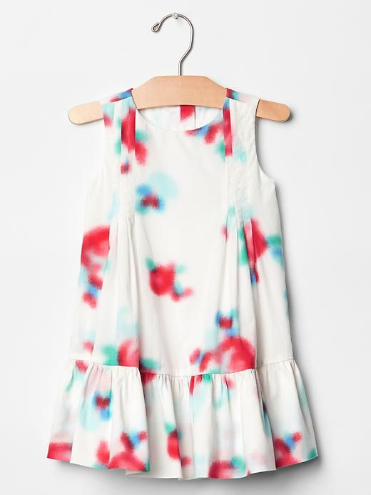 Gap Kids Floral Airbrush Pleat Dress