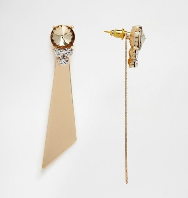 ASOS Sleek Shard Occasion Double Earrings