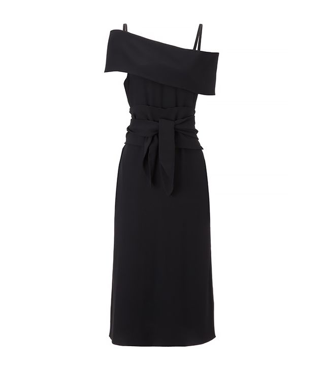 J.W.Anderson Black Crepe Band Dress