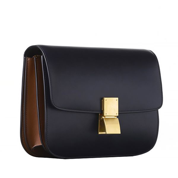 Céline Medium Classic Bag in Bicolor Box Calfskin