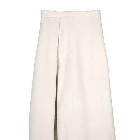 Mika Jacquard Pleated Skirt, Ivory