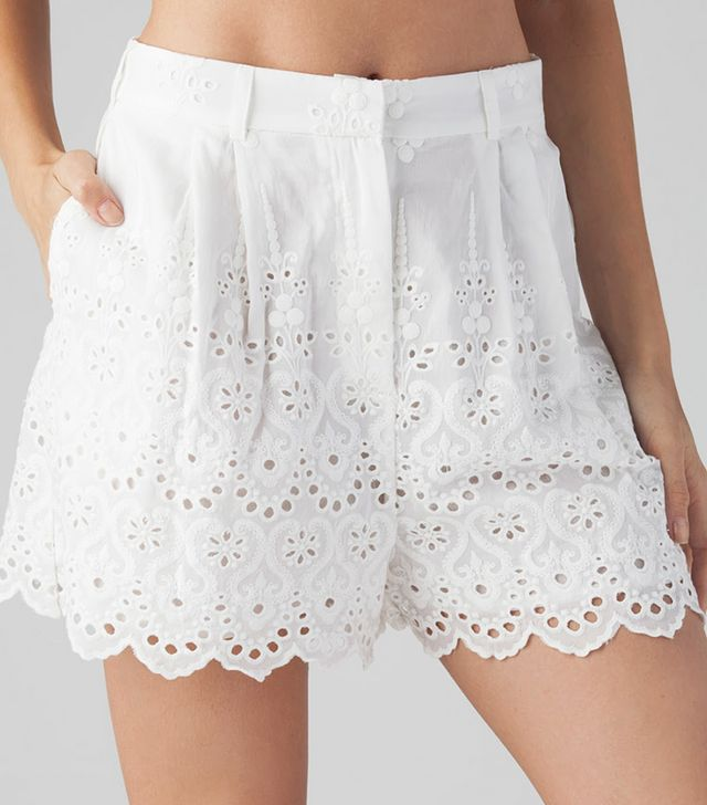 Zimmermann Gemma Embroidery Shorts