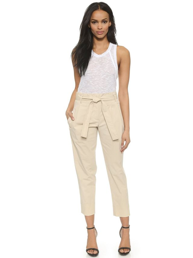 Theory Light Poplin Kamira Pants