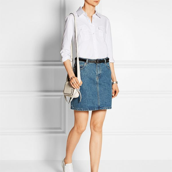 Frame Denim Le Boyfriend Cotton Oxford shirt