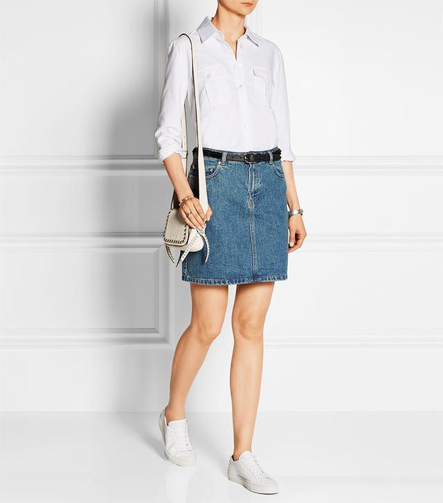 Frame Denim Le Boyfriend Cotton Oxford shirt