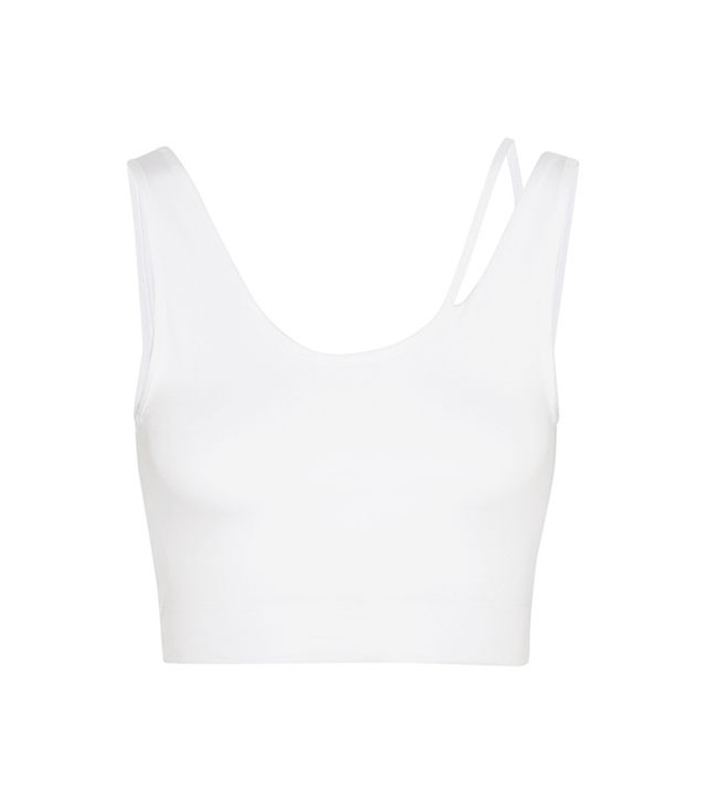 Helmut Lang Cropped Stretch-Jersey Top