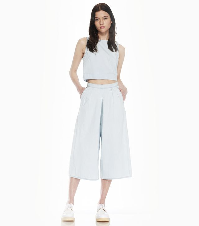 3x1 Zip Back Crop Top ($195) and Gaucho Pants ($265)