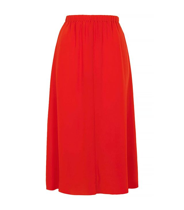 Topshop Silk Layer Slip Skirt