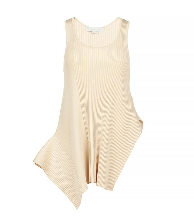 Stella McCartney Ribbed Volume Sleeveless Top