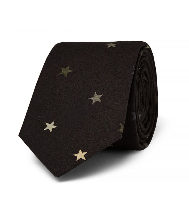 Givenchy Star Patterned Cotton Tie