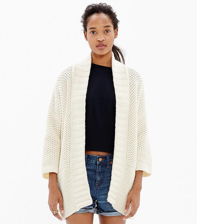Madewell Kimono Cardigan Sweater, French Vanilla