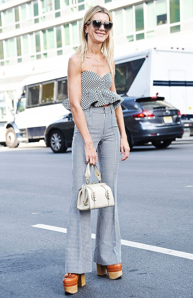 Mix your gingham with a windowpane print for an extra-cool look.