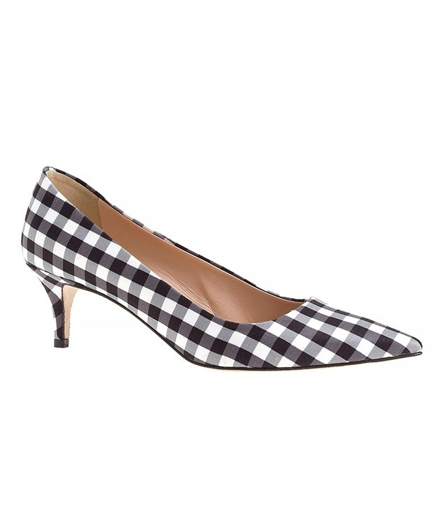 J.Crew Collection Gingham Dulci Kitten Heels
