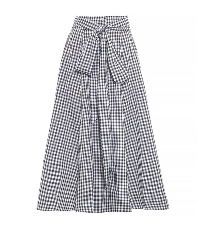 Lisa Marie Fernandez Gingham High-Waisted Beach Skirt