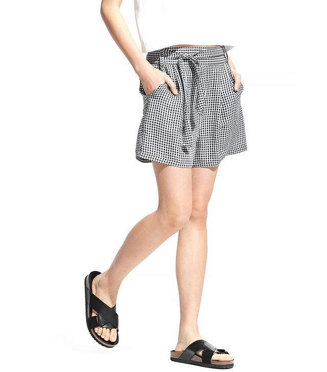 Mango Gingham Check Bermuda Shorts