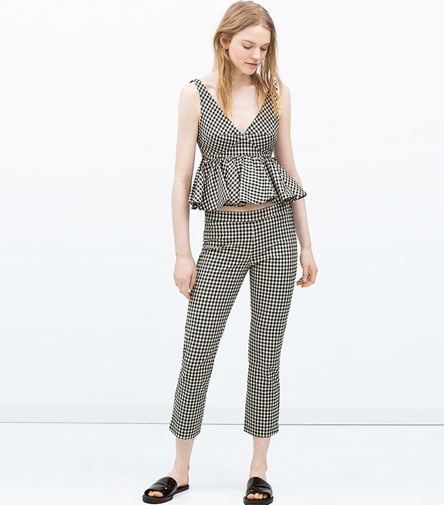 Zara Zara Gingham Top ($50) and Trousers ($50)
