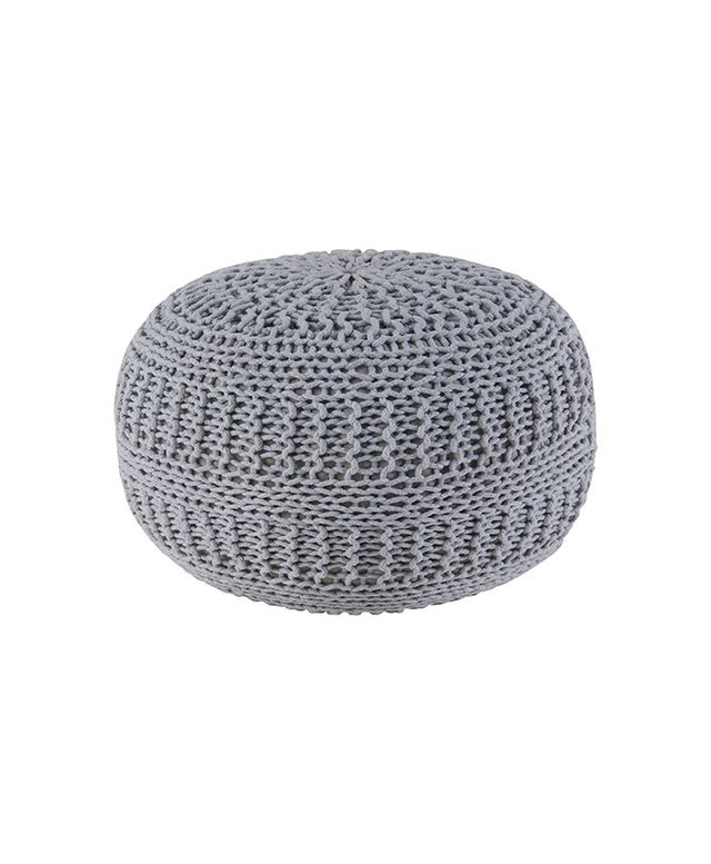 Rizzy Home Cable Knit Ottoman