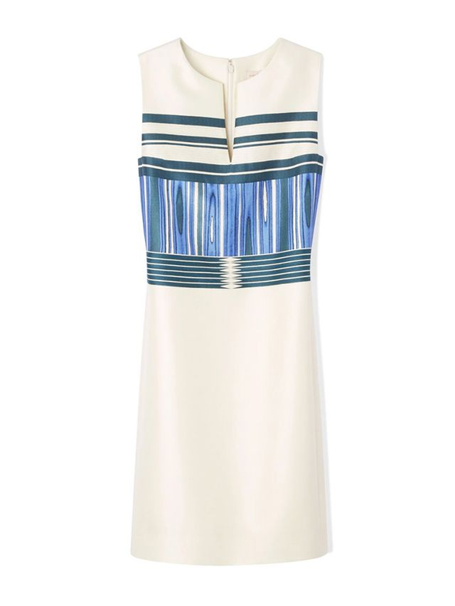 Tory Burch Mixed-Pattern Mikado Dress