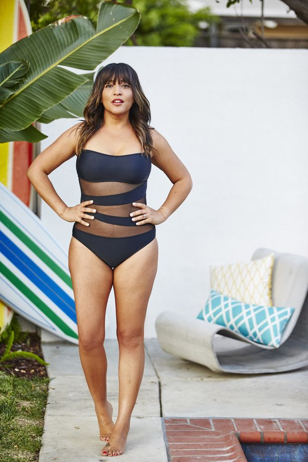 Shop the look: Mossimo Mesh Inset Microgoddess Bandeau One-Piece Suit ($40)