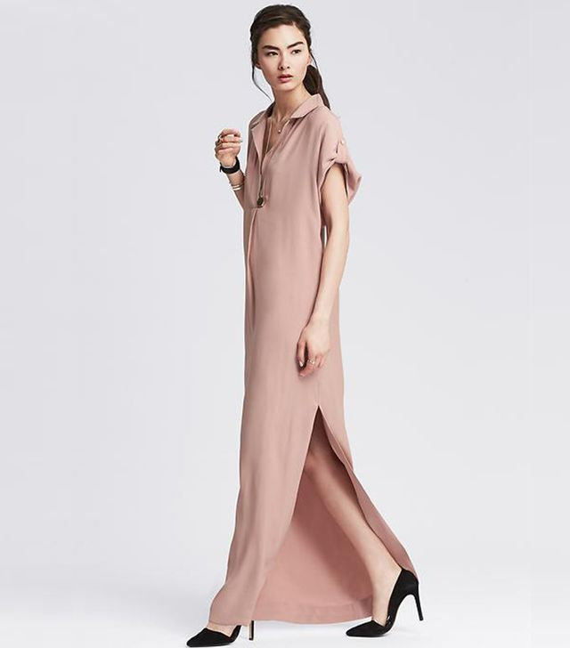 Banana Republic Draped Long Shirtdress