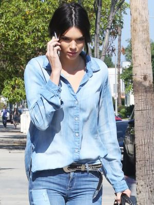 Kendall Jenner's Denim-on-Denim Look Is Your Perfect Summer Uniform