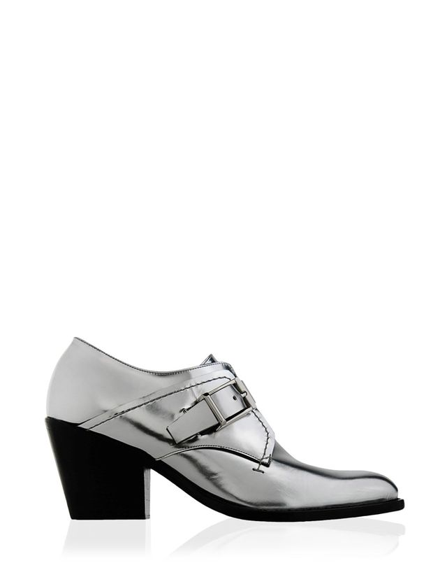 Barbara Bui Mirrored Leather Derbys