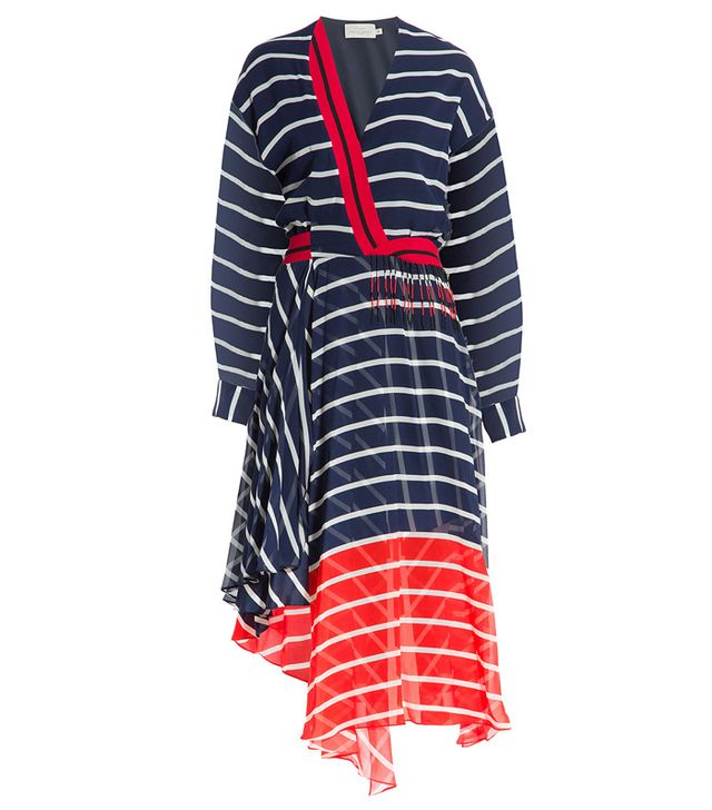 Preen by Thornton Bregazzi Striped Silk Dress