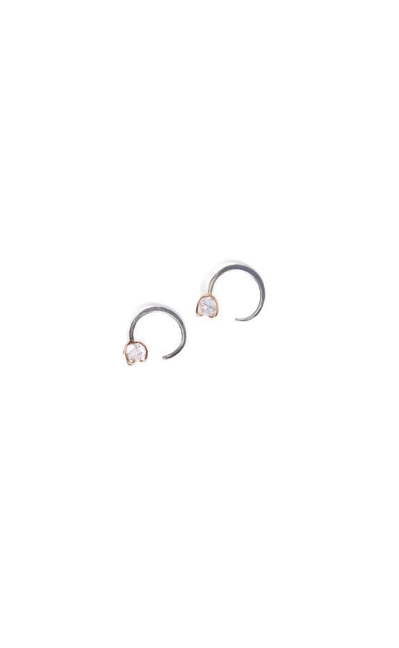 Melissa Joy Manning for Rebecca Taylor Crystal Quartz Huggie Earrings