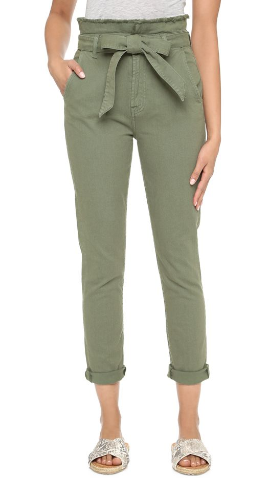 7 for All Mankind Paper Bag Waist Jeans, Fatigue