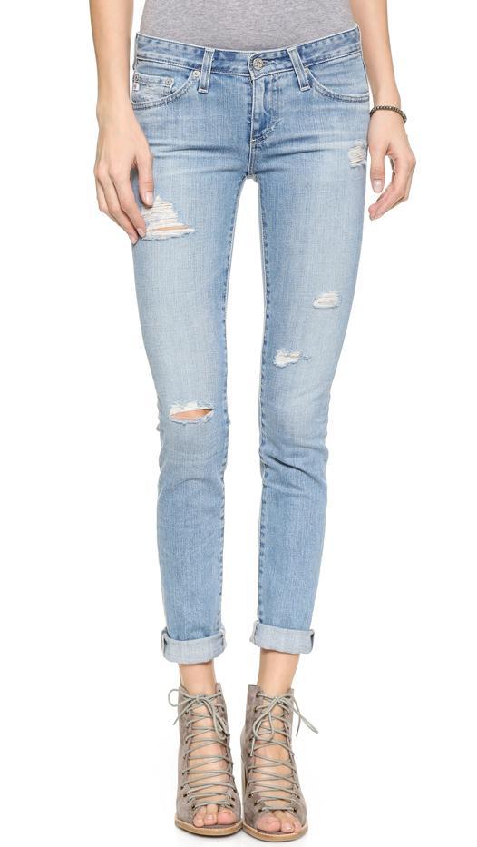AG The Stilt Cigarette Jeans, 19 Years Destroyed