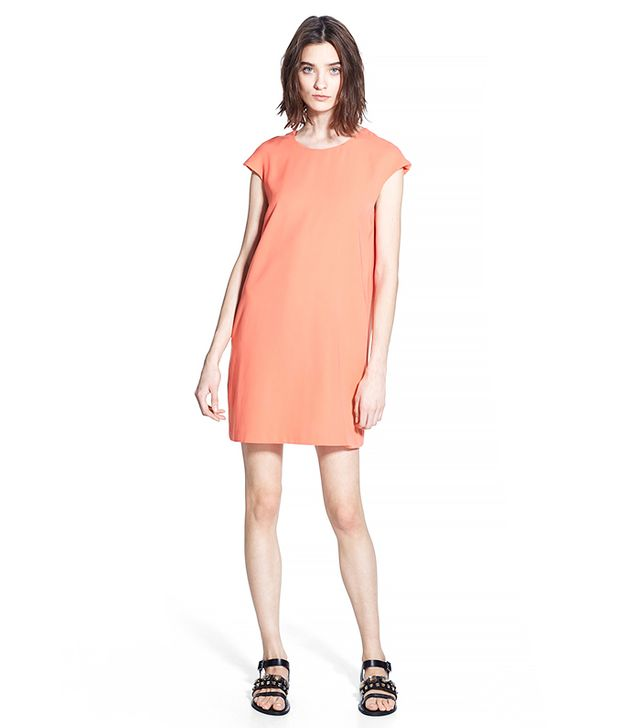Mango Cut-Out Back Dress in Grapefruit