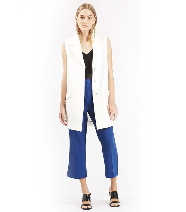 Topshop Premium Crepe Swing Sleeveless Jacket