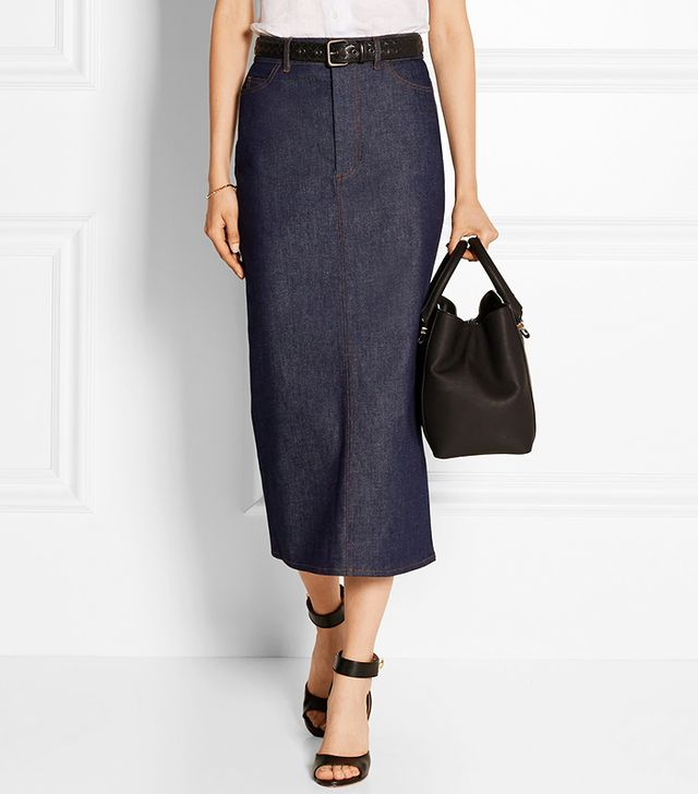 Victoria Beckham Denim Stretch-Denim Pencil Skirt