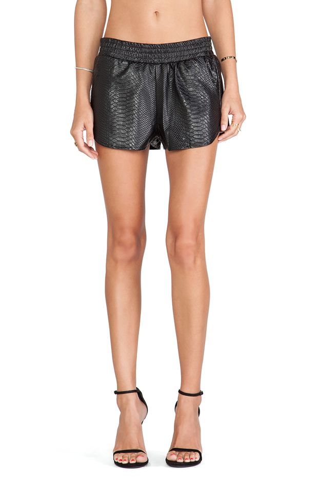 Lovers + Friends Leather Soccer Short